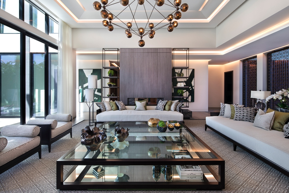 Linear LED cove lighting in a residential living space. Boca Flasher